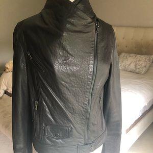 VINCE leather bomber jacket.  Never worn!